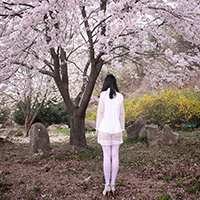 비비스타 화보 모델, BODY 시리즈, 섹시 올인원, 노출, 야외출사, 벚꽃, 목련,  출사